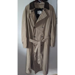 London Fog Leather collar Trench Coat